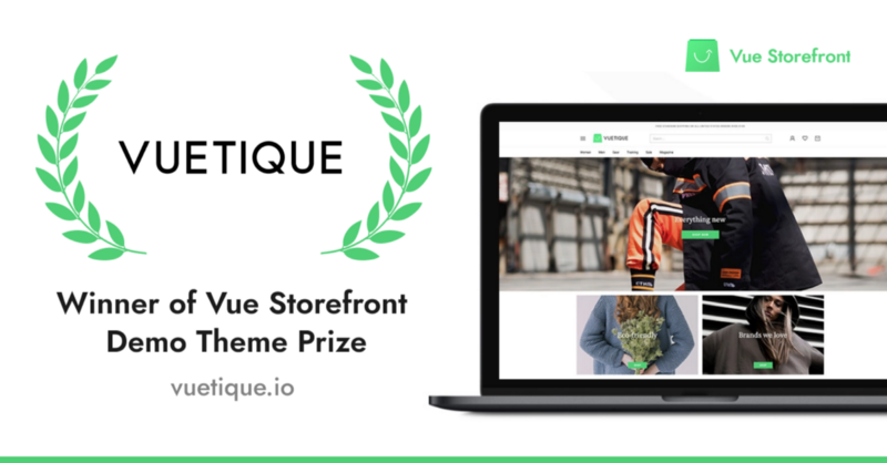 VueTique Theme - winner of Vue Storefront Theme Prize