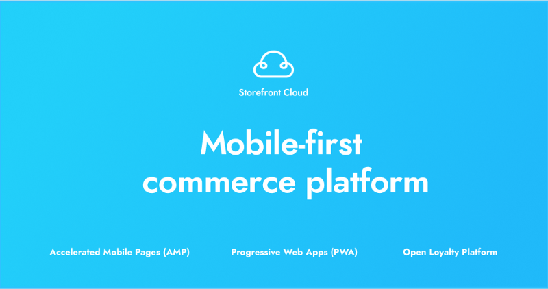 Storefront UI mobile-first commerce platform