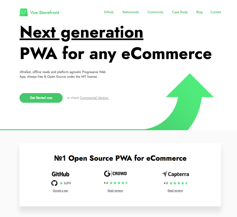 Vue Storefront website