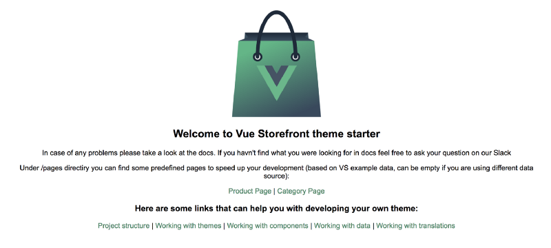 Welcome to Vue Storefront