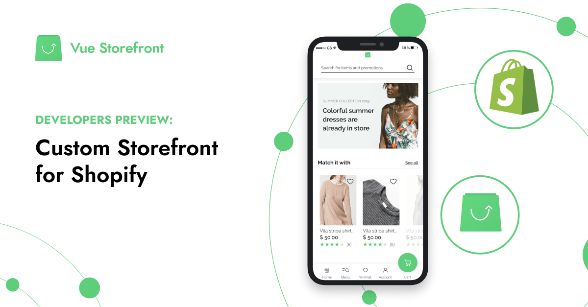 Vue Storefront for Shopify